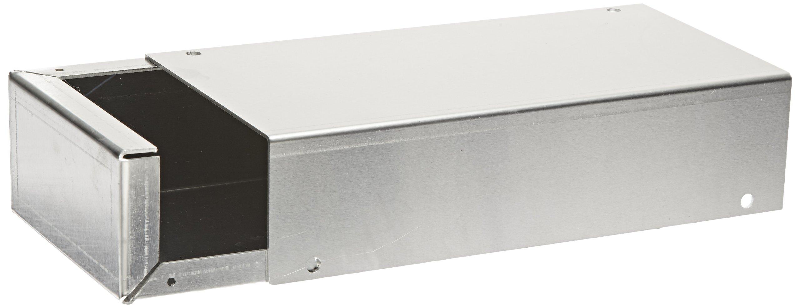 BUD Industries CU-482-A Aluminum Converter Box, 8'' Width x 2 Height x 4'' Depth, Natural Finish