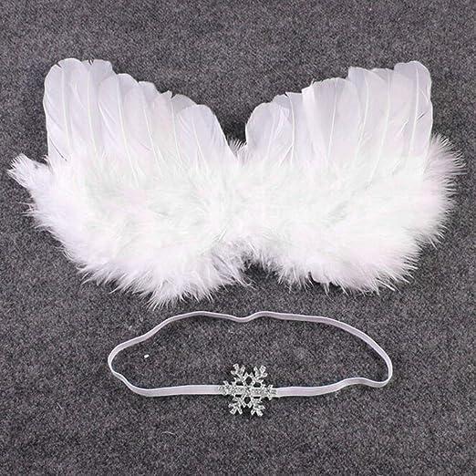 Lyguy - Disfraz de ala de ángel para recién Nacidos + Falda de ...