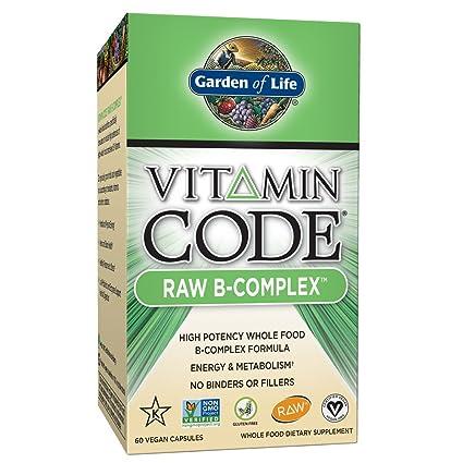Jardín de vida vitamina código Raw B-Complex (60 Ultra zorbe vegana cápsulas)