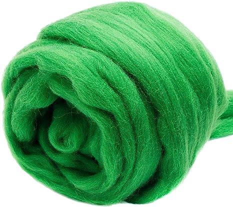 Spinning Felting Wool Roving Fiber Mixed Top and Roving Bag 12 oz  Spin Fiber