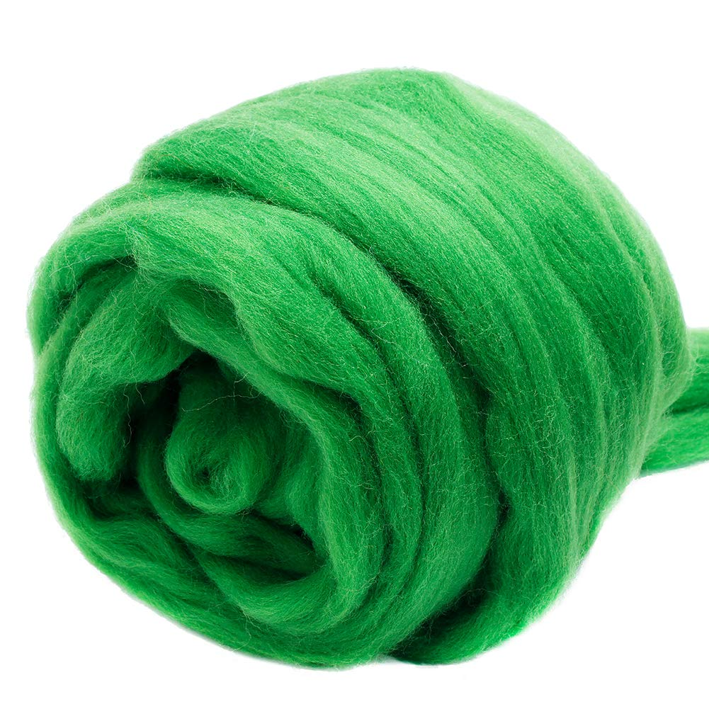 Spinning Wool Roving for Needle Felting Wet Felting DIY Hand Spinning Fiber Roving Wool Top 100/% Pure Wool Jupean 3.53oz Wool Roving Yarn Chunky Yarn Wool Felting Supplies