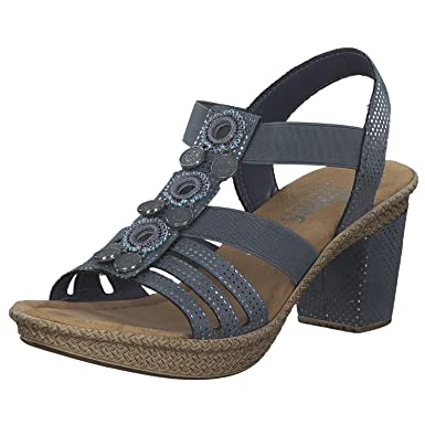 910814 5 Damen Sandalette Rieker Blau dCtrxshQ
