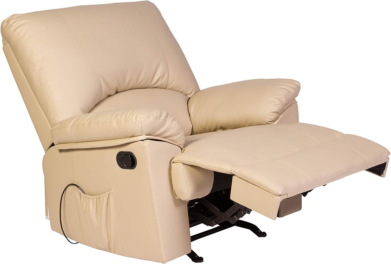 Amazon Com Relaxzen Reynolds Massage Recliner Beige Furniture Decor