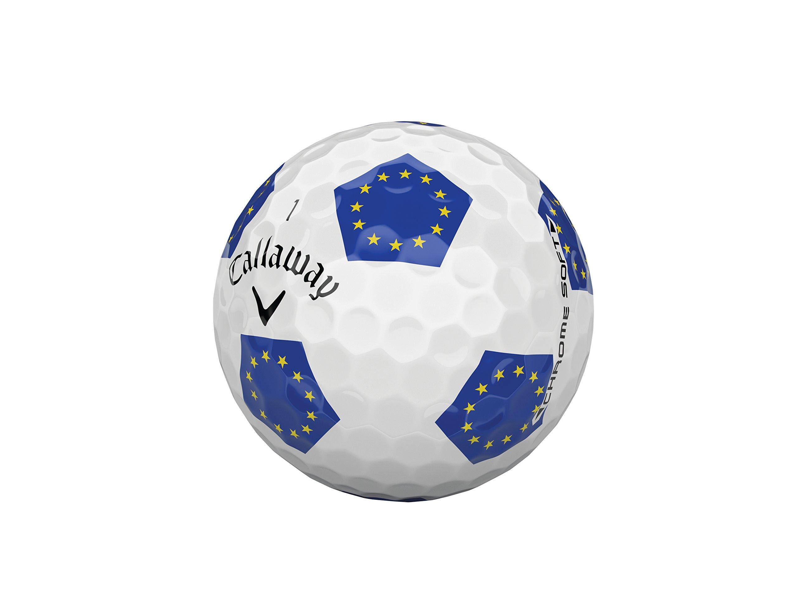 Callaway Golf One Dozen Chrome Soft 18 European Union Truvis Golf Ball by Callaway
