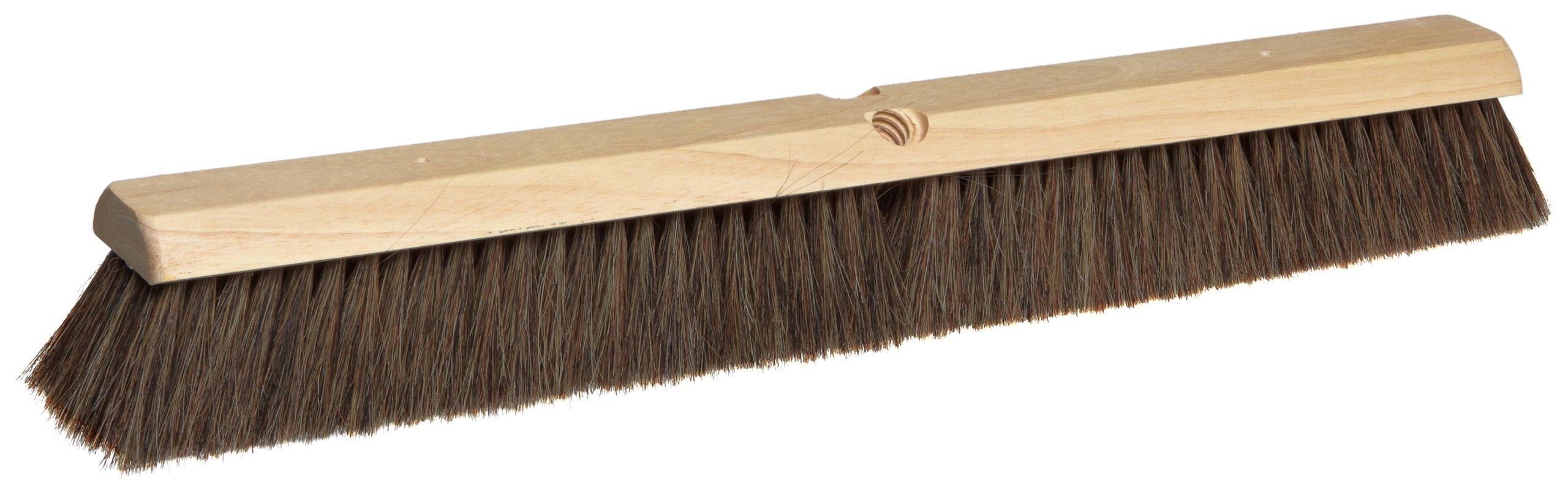 Magnolia Brush 2924 LH Line Concrete Finishing Brush, Horsehair Bristles, 2-1/2'' Trim, 24'' Length, Gray (Case of 12)