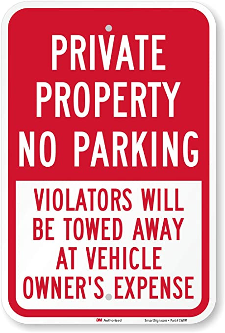 Compact Car Parking Only Towed Away Warning Metal Sign