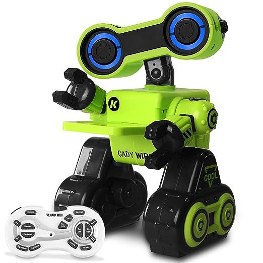 Ferngesteuertes Roboter Spielzeug für Kinder, Hbuds Intelligente Programmierung RC / Touch Sensor STEM Roboter mit LED-Licht,