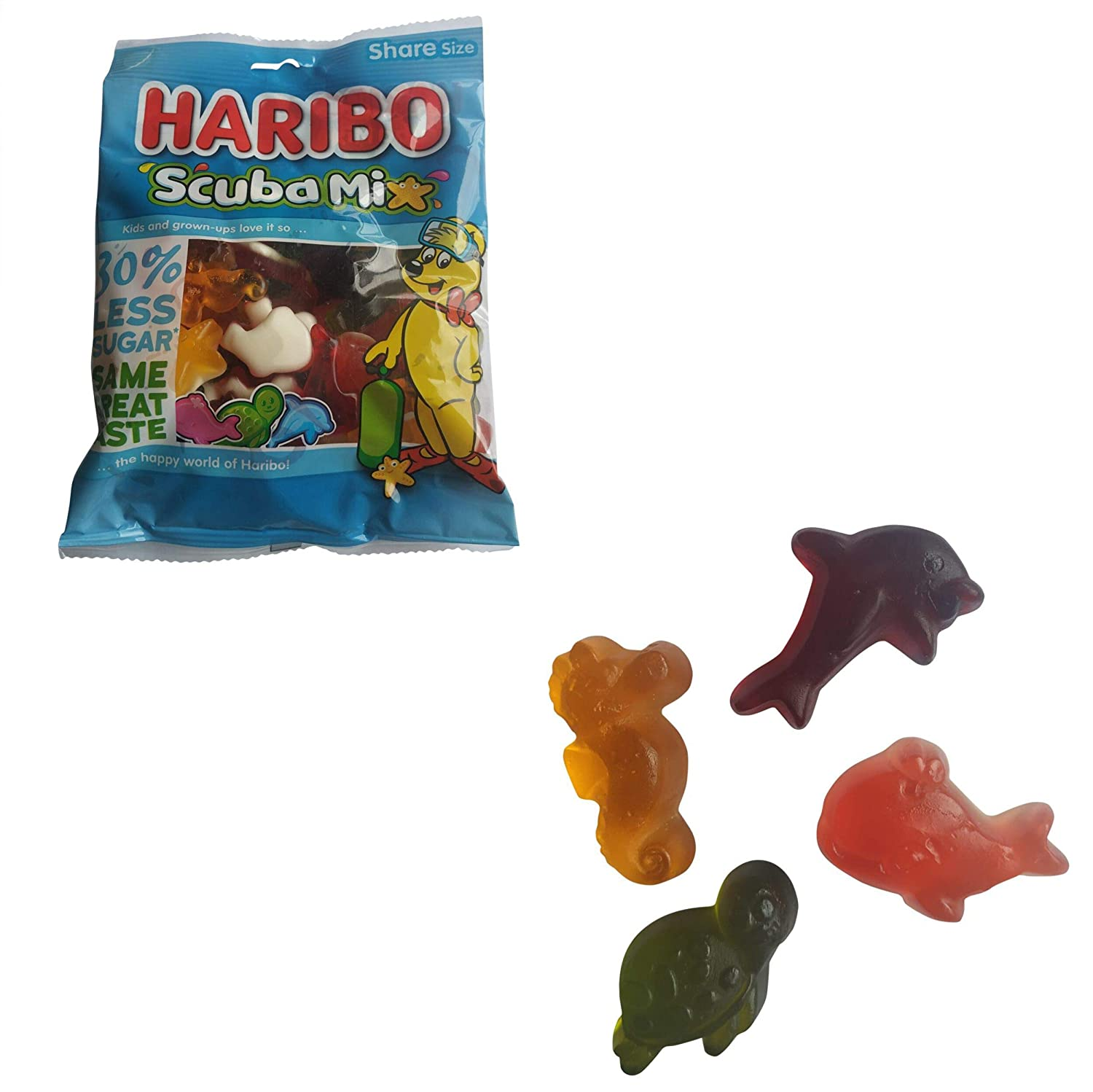 Haribo Gummies | Haribo Scuba | Gummies with Apple, Pineapple, Blueberry, Strawberry, Lemon & Raspberry Flavor | 7.76 Ounce Total