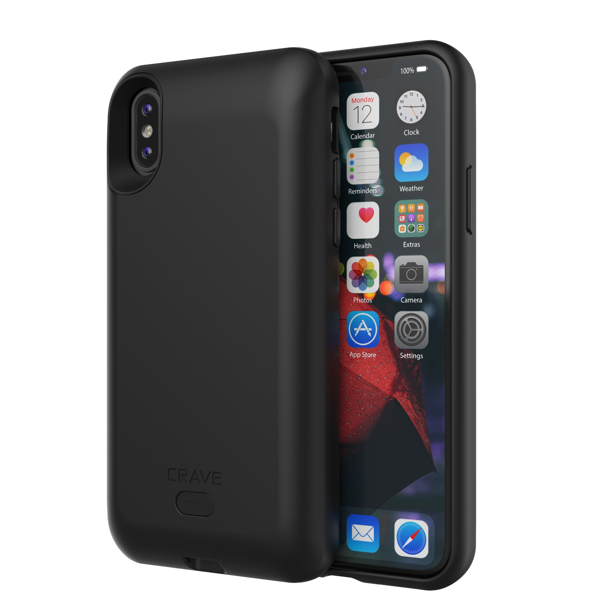 Funda Con Bateria de 3000mah para Apple Iphone X/Xs CRAVE [78TH92PP]
