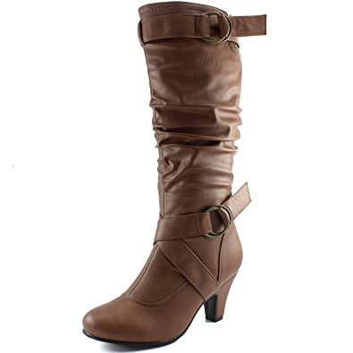 Dailyschuhe Damens's Slouchy Mid Calf Strappy Stiefel with 2fd7b5