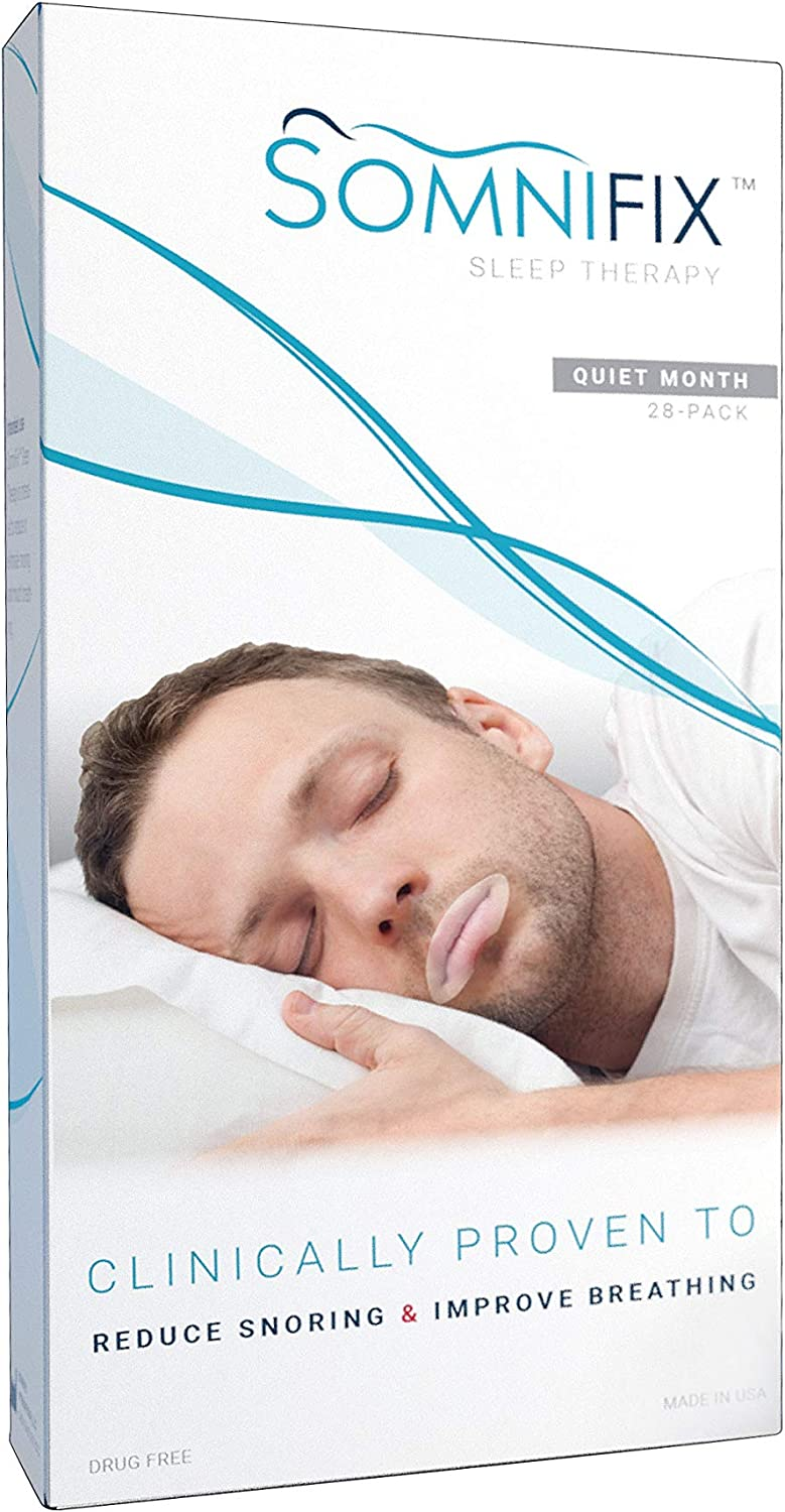 Sleep Strips by SomniFix - Advanced Gentle Mouth Tape for Better Nose Breathing, Improved Nighttime Sleeping, Less Mouth Breathing, and Instant Snoring Relief - Pack of 28