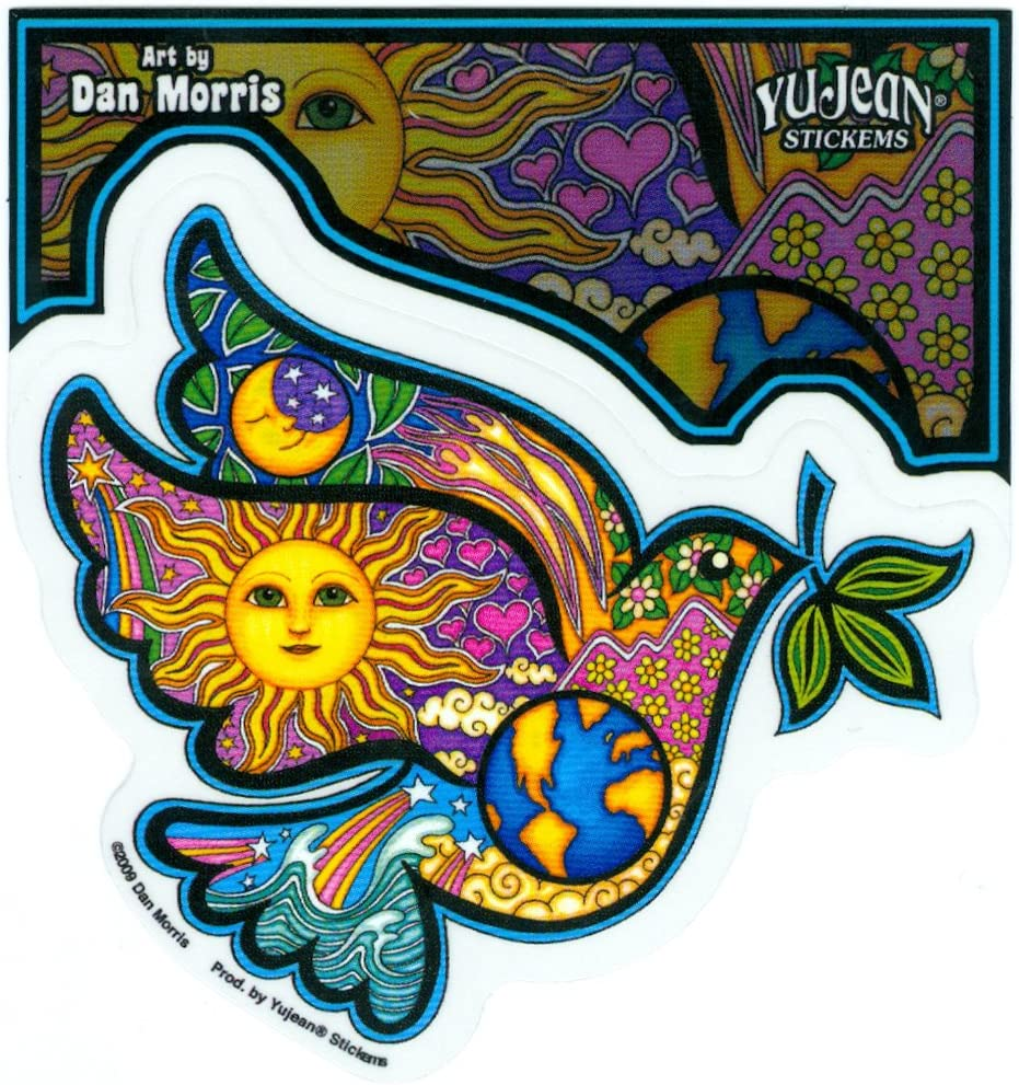 Dan Morris - Peace Dove Holding an Olive Branch - Sticker/Decal