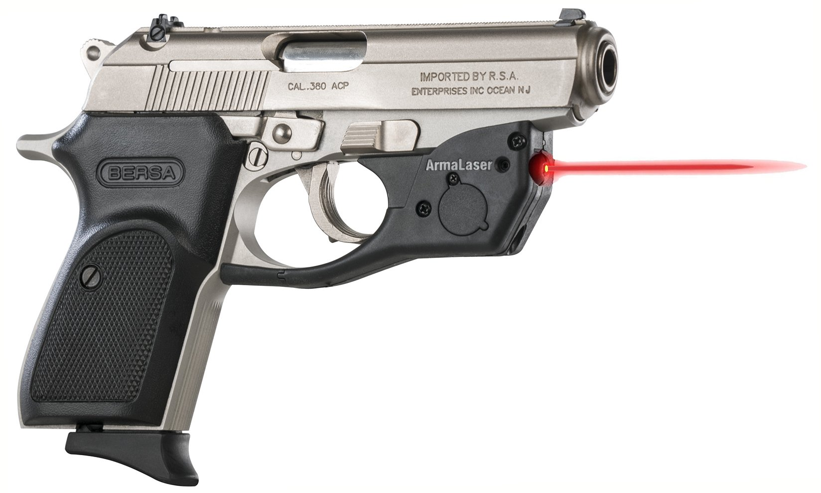 ArmaLaser Bersa Thunder 380 TR16 Super-Bright Red Laser Sight with Grip Activation by ArmaLaser