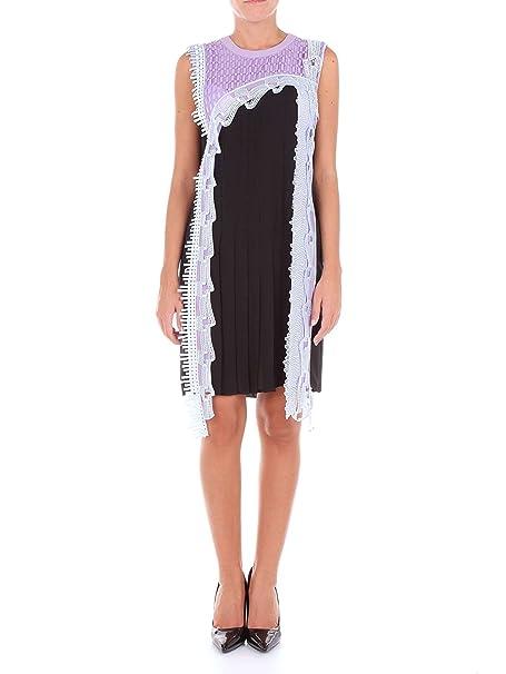 Versace A76652A221140 Vestido Mujer Negro y Lila 40