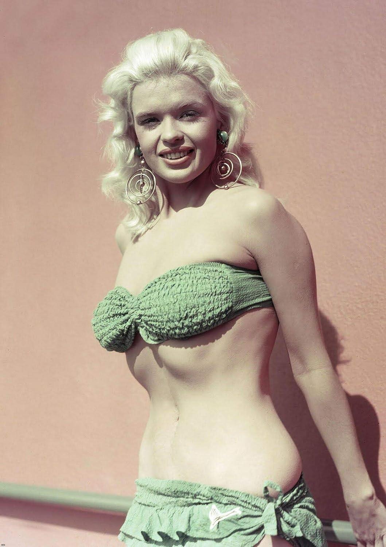 20 x 25 cm bucraft Jayne Mansfield Fotodruck im gr/ünen Bikini