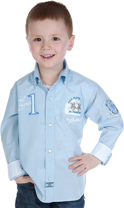 La Martina - Camisa - para niño Beige Blau 12 años: Amazon.es: Ropa y accesorios