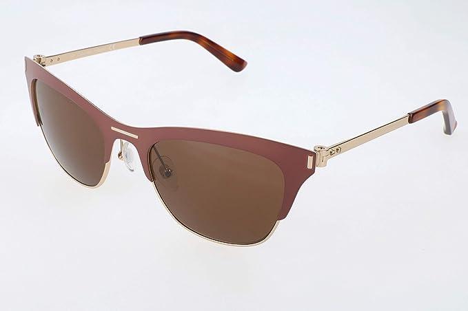 Calvin Klein Gafas de sol, Marrón (Brown), 53.0 para Mujer ...