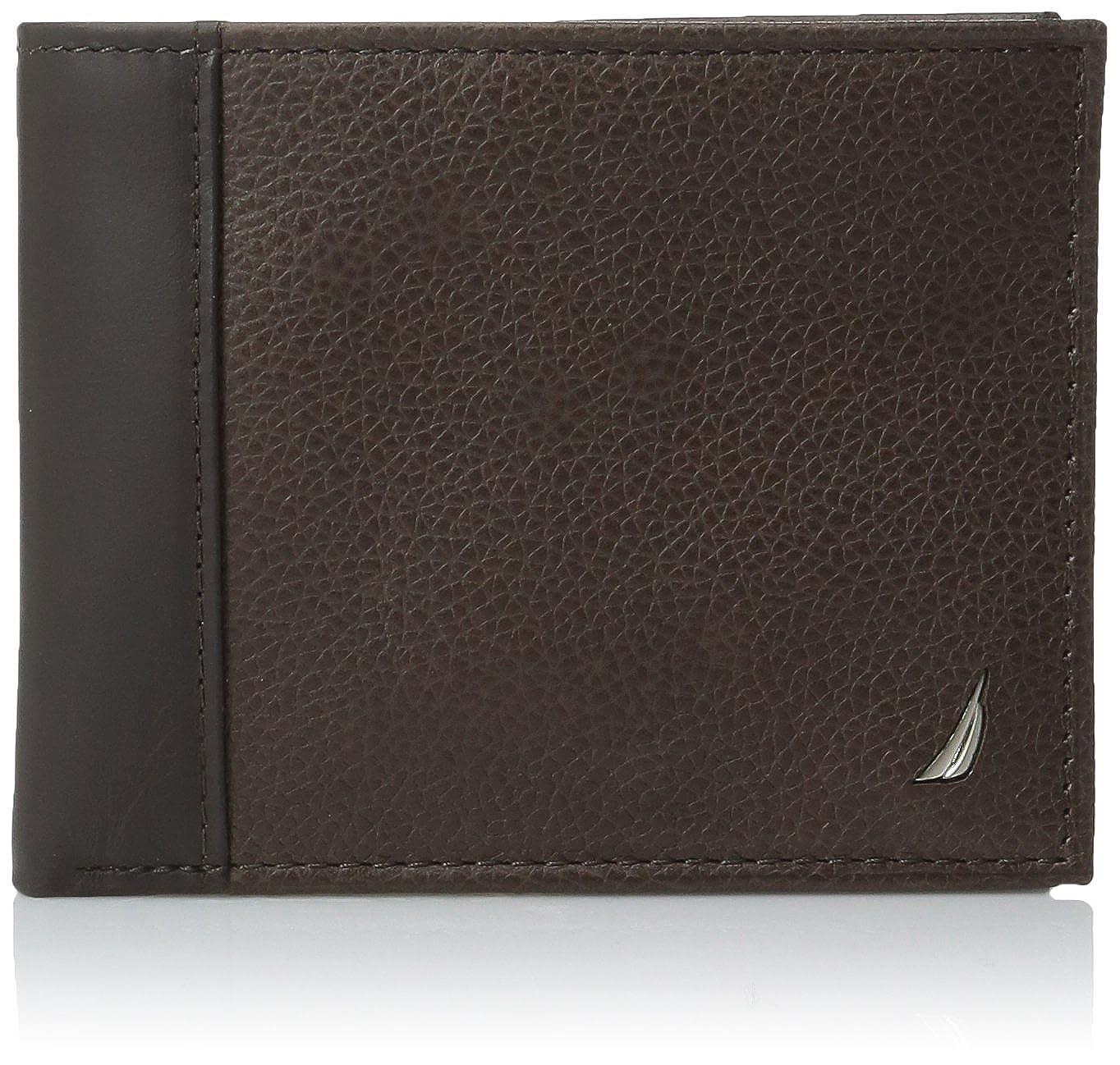 Nautica Mens Milled Leather Passcase Wallet, Brown: Amazon.es: Ropa y accesorios