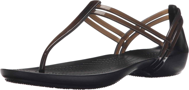 Crocs Isabella Huarache Standard Fit Summer Flat Sandals in Black Blue /& Bronze