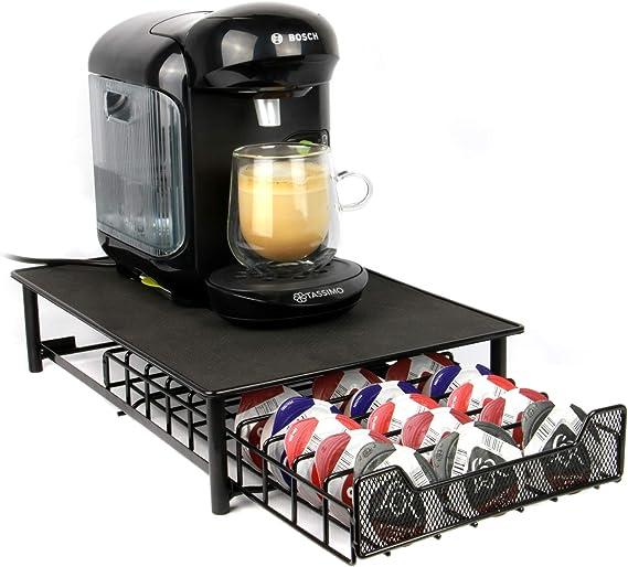 Maison & White Tassimo 60 Pod Holder   Cajón de cápsulas y soporte para máquina de café Negro: Amazon.es: Hogar