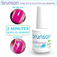 Brunson - Gel Remover, Soak Off & Sculpting Gelish Remover, Removes Soak-Off Base Matte Top Coat Gel Polish in 2-5 Minutes Nail Art Primer Lacquer Nails Salon No Hurt Nails