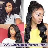 "JAHUI Hair Brazilian Body Wave 3.5""x4""Lace Closure"