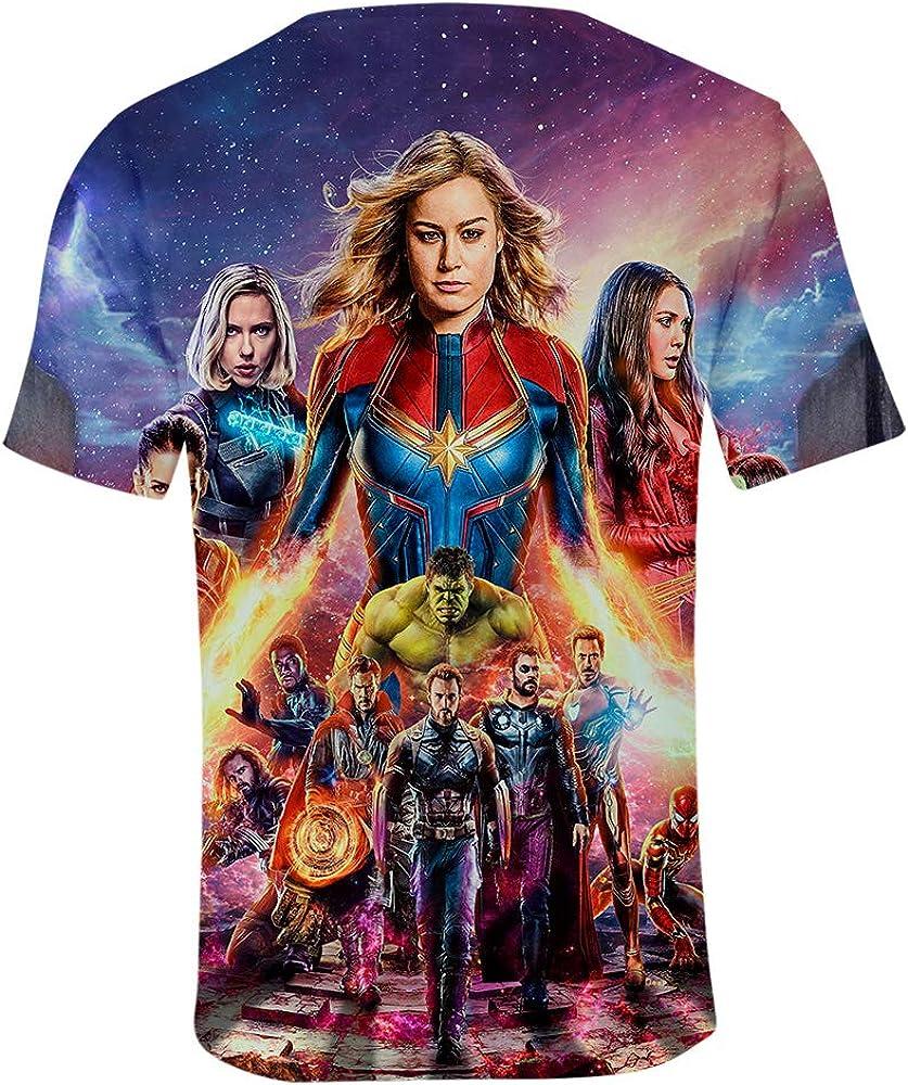Avengers Endgame Shirt Kids Heros Cosplay T-Shirt 3D Full Printed Short Sleeves Sport Tee Shirts for Girls Boys Toddler