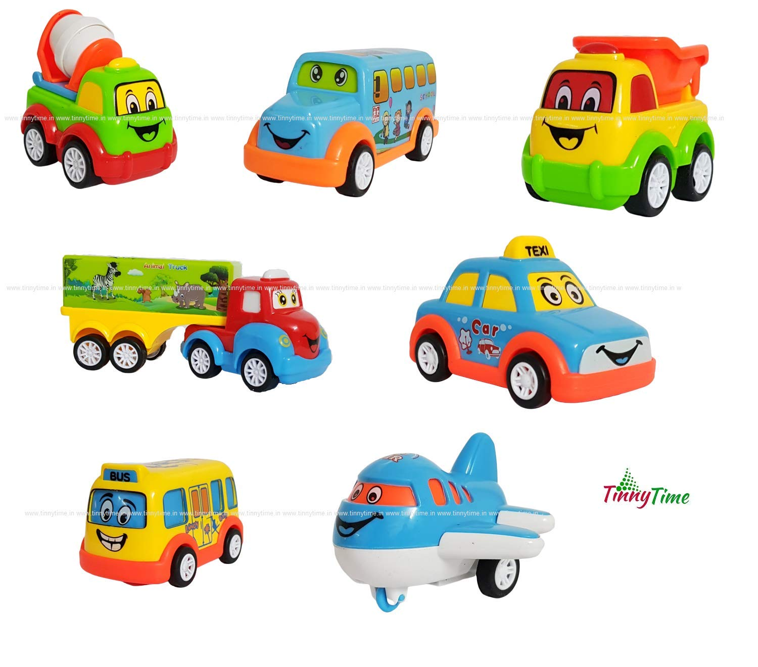Buy Tinny Time Unbreakable Pull Back Car Truck Toy Set For Kids