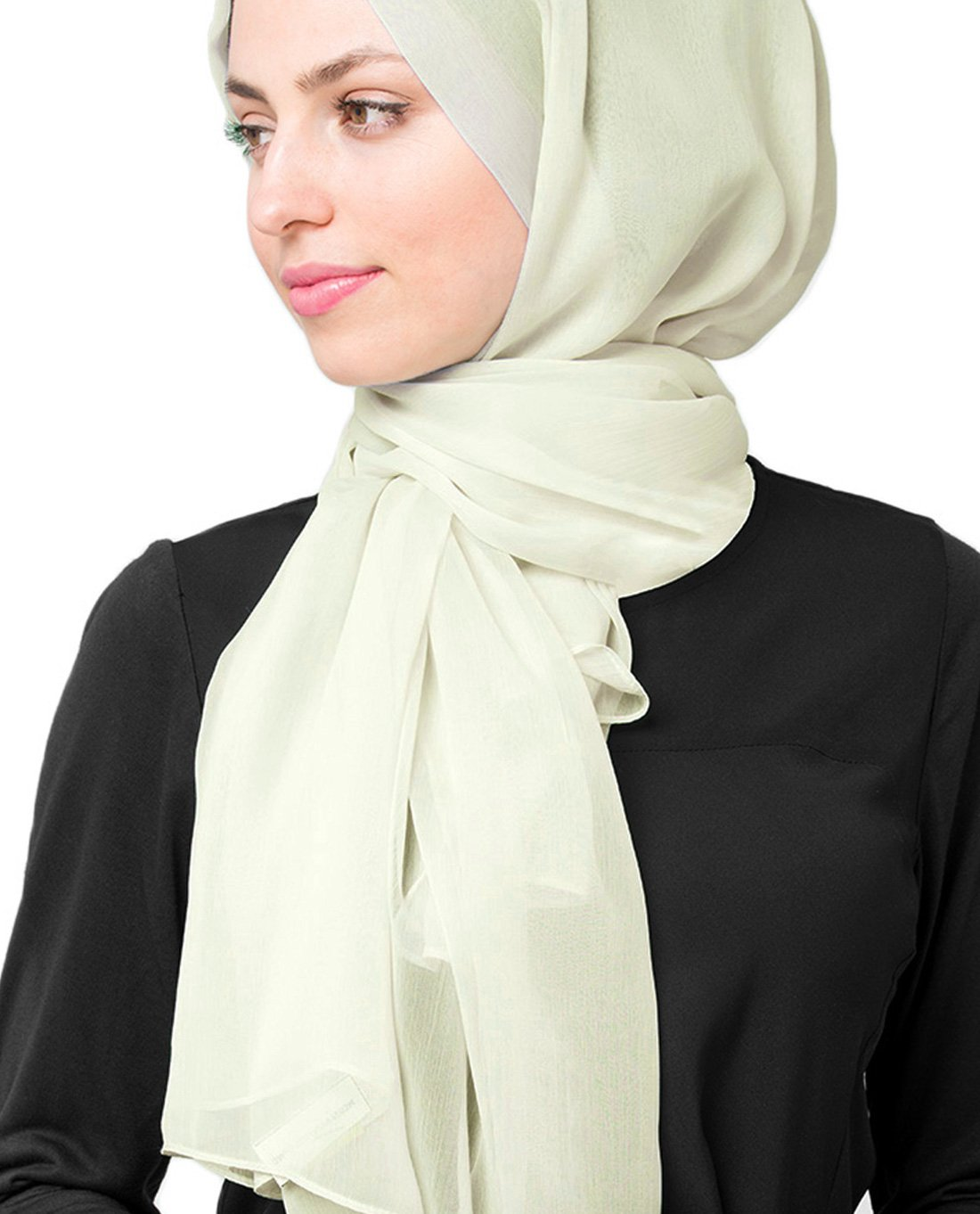 InEssence Fairest Jade Poly Chiffon Scarf Women Girls Wrap Large Size Hijab