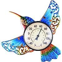 VCUTEKA Termómetro para interior y exterior, termómetro inalámbrico, diseño de mariposa redonda, no requiere batería…