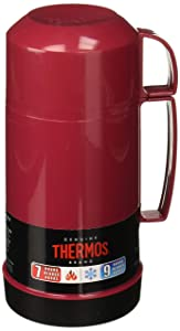 Thermos Vacuum Insulated 16 Ounce Food Jar with Foldable Spoon, Red