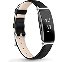 Leather Bands Compatible with Fitbit Inspire HR Bands for Women Men, Replacement Leather Bands for Fitbit Inspire…