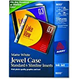 Avery CD/DVD Jewel Case Inserts for Ink Jet Printers, White, Pack of 20  (8693)