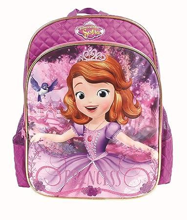 mochila costas princesa sofia roxa grande g original infantil