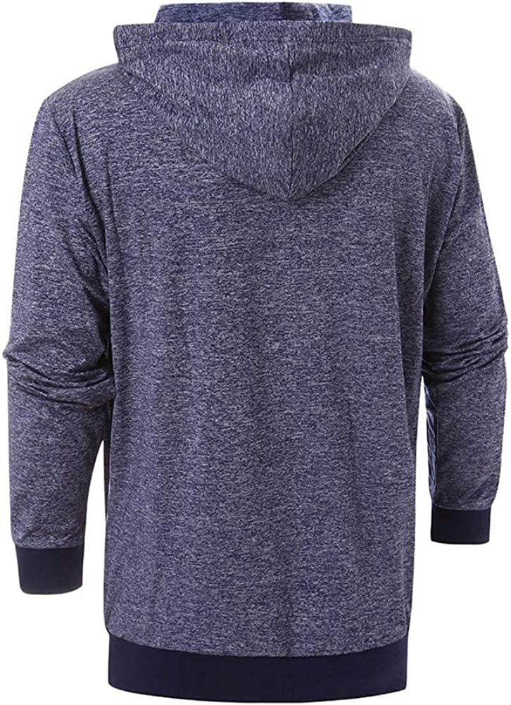 Fashion Hoodies for Men,Men/'s Casual Solid Pullover Hoodie Long Sleeve Hooded T-Shirt Slim Fit Sweatshirt with Pockets