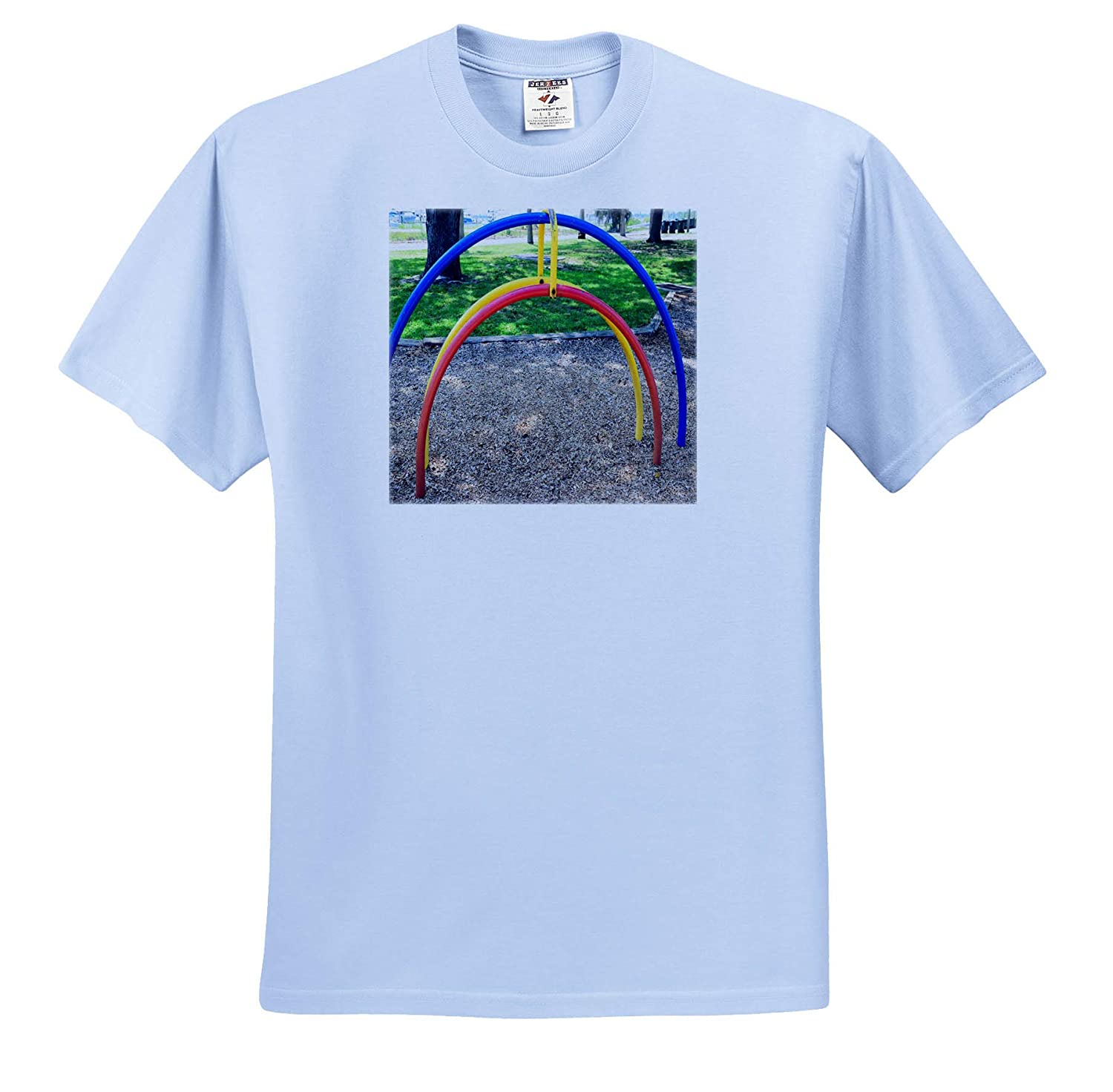 Image of Play Equipment in Blue Red and Yellow in Florida 3dRose Lens Art by Florene Adult T-Shirt XL ts/_316576