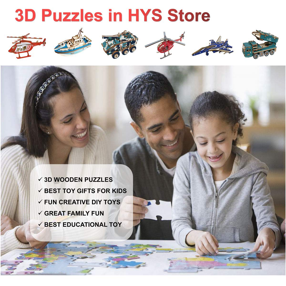 Creative DIY Crafts Kit Toy for 8-10 Year Olds Boy HYS Educational Art 3D Puzzle Set for Kids Best Toy Gift for Girls and Boys Age 8 9 10 11 12 Year Old
