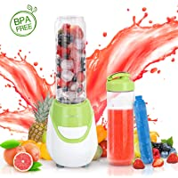 Aigostar Batidora americana de vaso & Vaso, potencia 600W. Libre de BPA. Diseño exclusivo.