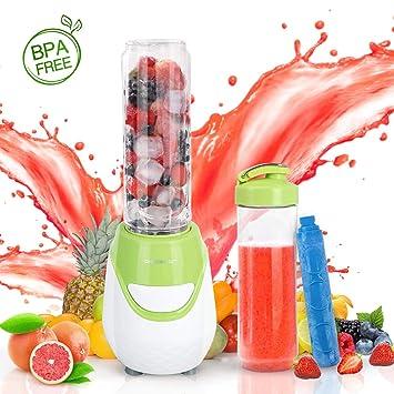 Aigostar Greenberry 30JHU - Batidora de vaso portátil, 600W, tubo refrigerante, incluye 2