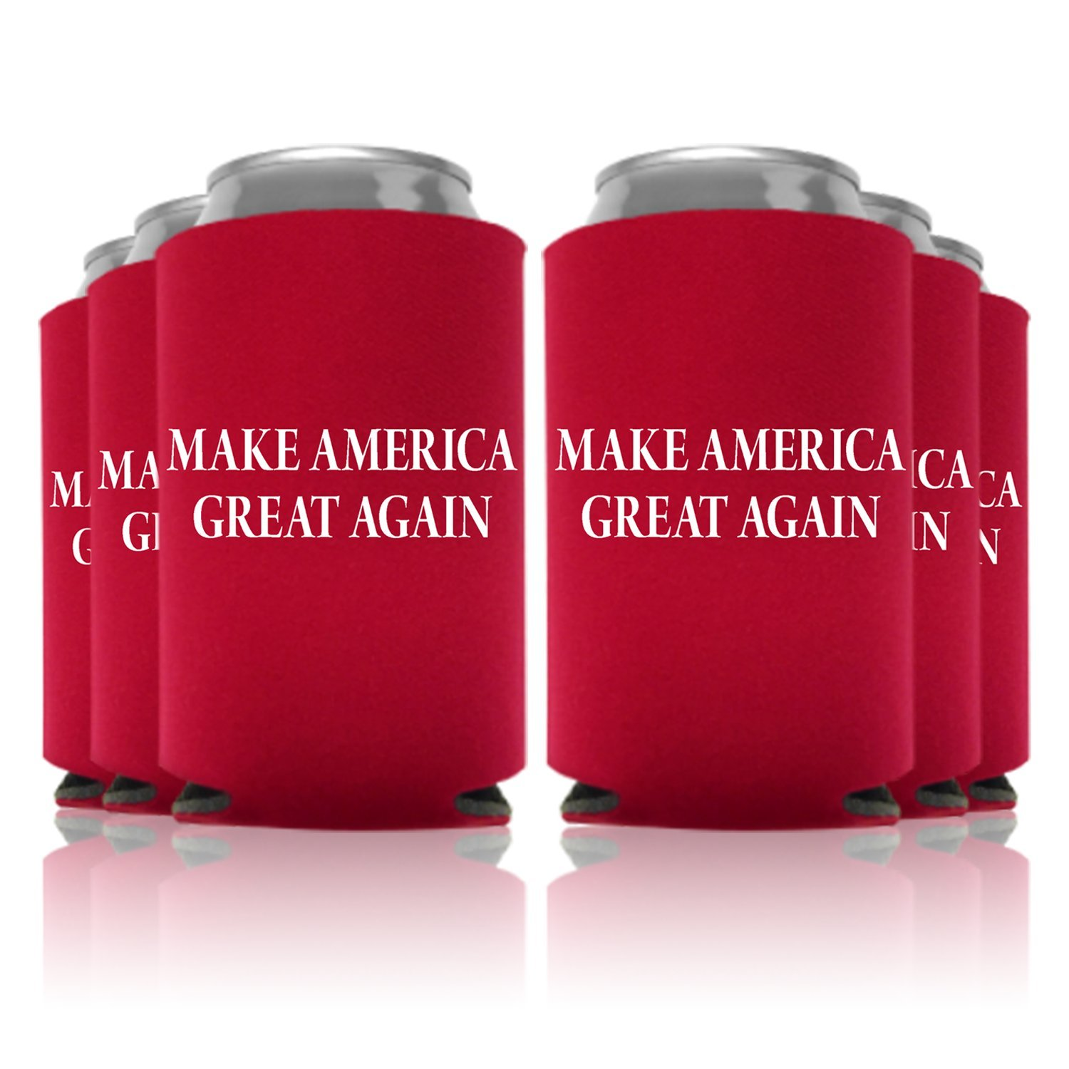 Trump Make America Great Again Can Coolers Party Favor, Red, 6 Pc