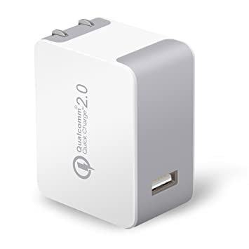 Quick Charge 2.0 USB Travel Charger, [Qualcomm Certified] JOTO Turbo Rapid AC USB