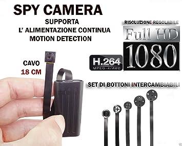 SPY SPY SPY CAMARA FULL HD DETECCIÓN DE MOVIMIENTO MICRO cámara oculta espía CW145: Amazon.es: Electrónica