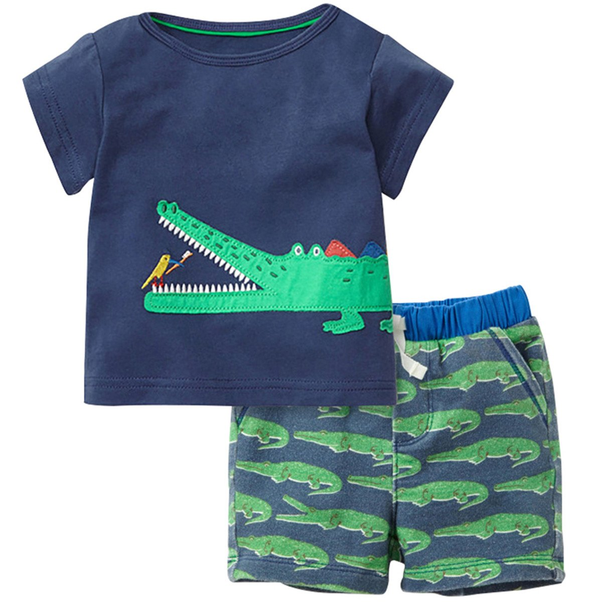 Baby Boys 2 Piece Short Sleeve Summer Summer Outfit Clothing Sets