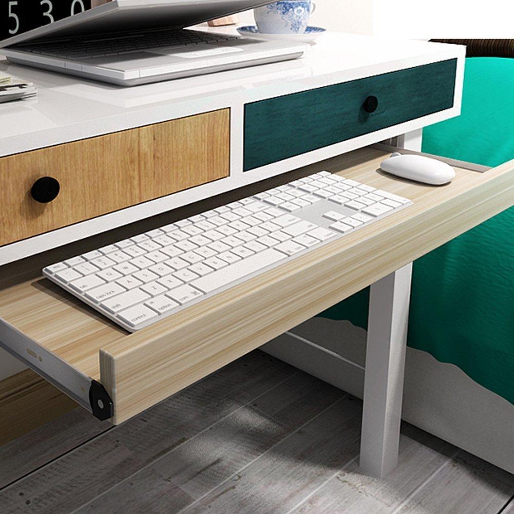 20x11 under-desk comfort tastiera cassetto piattaforme mobili ufficio porta tastiera scorrevole cassetti Fashion barre porta computer da tavolo Light Walnut