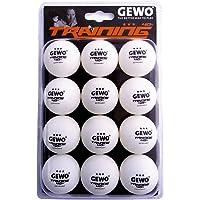 GEWO 3de estrella mano lichen 12pack mesa pelota de tenis, color blanco, 40mm