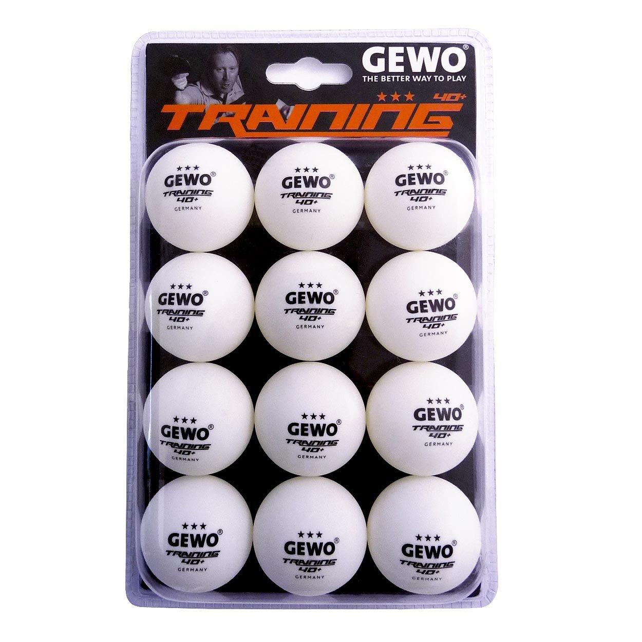 GEWO Trainingsball *** 40+ 12er Weiß 40 mm GEWO6|#GEWO 85931200