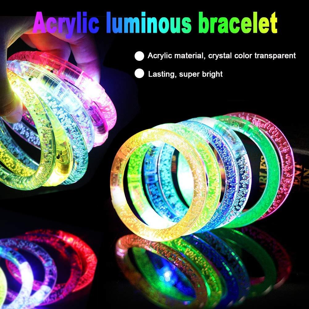 Amazon.com: Paquete de 14 pulseras LED que brillan en la ...