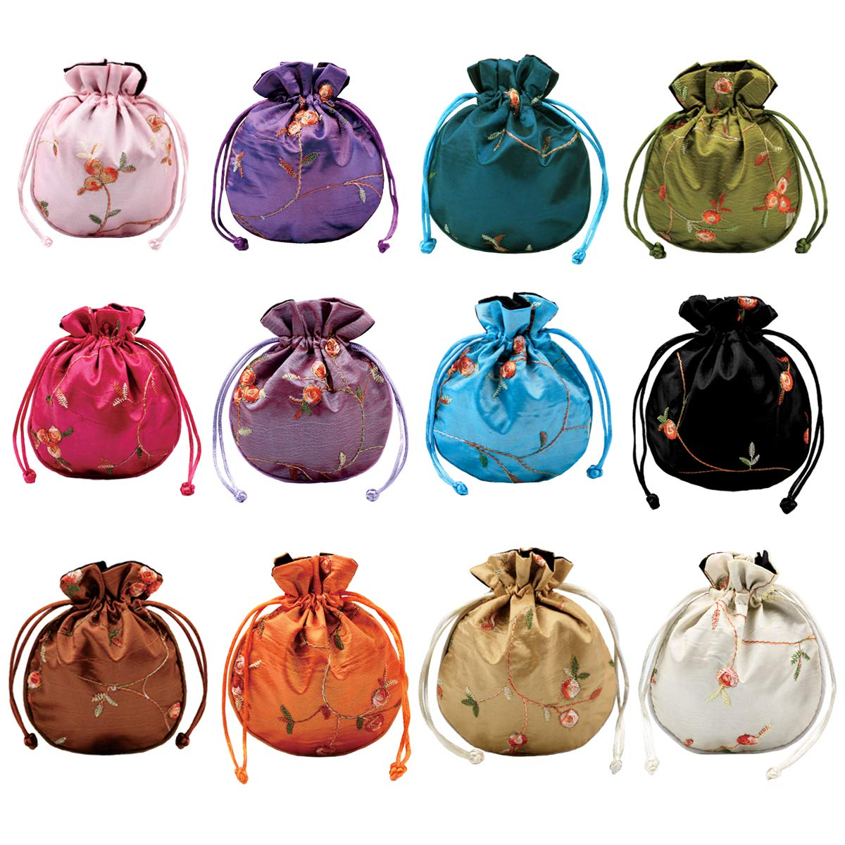 Sunflower Jewelry Tote Medium Size Drawstring Pouch -MAMA/'S GARDEN Jewelry Bag