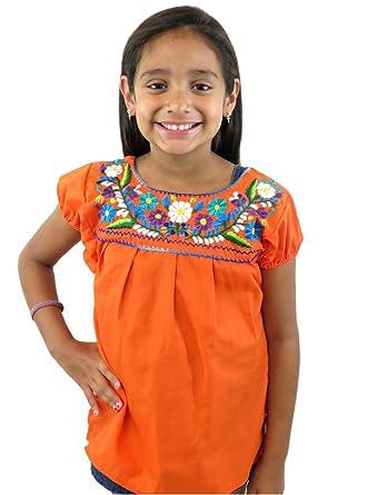 563a3a9ebb0efe Amazon.com: Leos Imports (TM) Girls Puebla Mexican Blouse: Clothing
