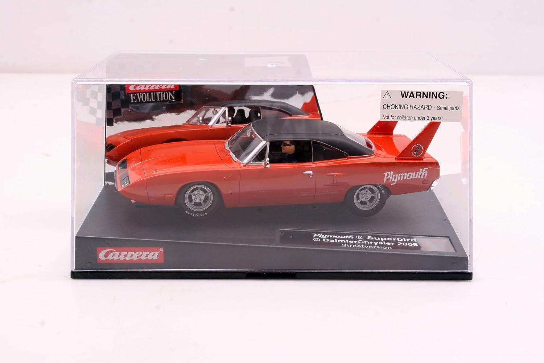 カレラEvolution 1 / 32 Plymouth Superbird Slot Car – ストリートバージョン:オレンジ/ B。。。